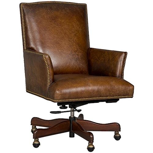 Hooker Furniture Executive Seating Executive Swivel Tilt Chair with Nailhead Trim