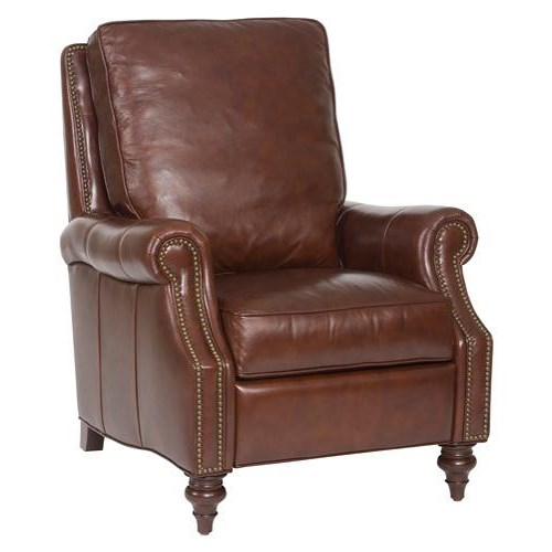 Hooker Furniture Reclining Chairs Traditional Leather High Leg Recliner