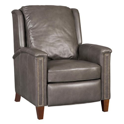 Hooker Furniture Reclining Chairs Transitional High Leg Recliner with Nailhead Trim