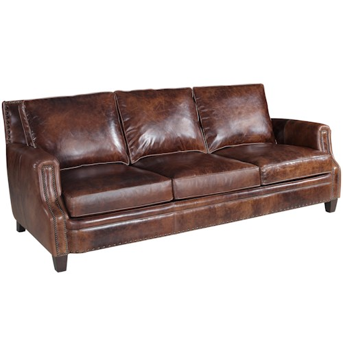 Hooker Furniture SS311 Traditional Sofa With Nailhead Trim