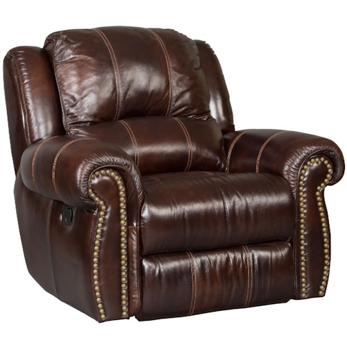 Hooker Furniture SS611 Glider Recliner with Nailhead Trim