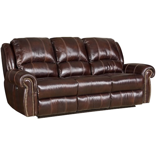 Hooker Furniture SS611 Dual Power Reclining Sofa with Nailhead Trim