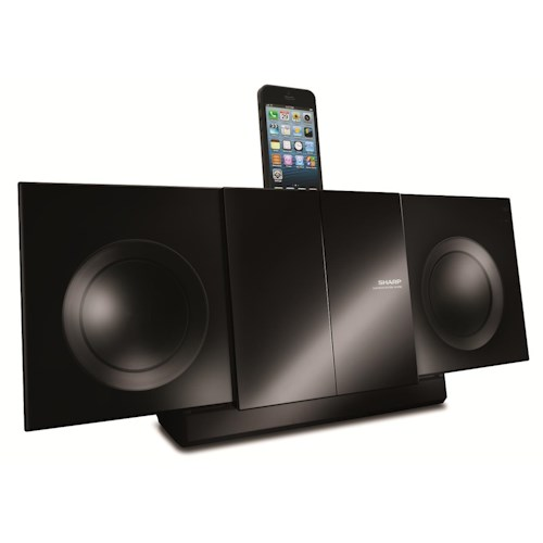 Sharp Electronics Shelf Stereo Systems Slim Audio Micro System with iPod Connection