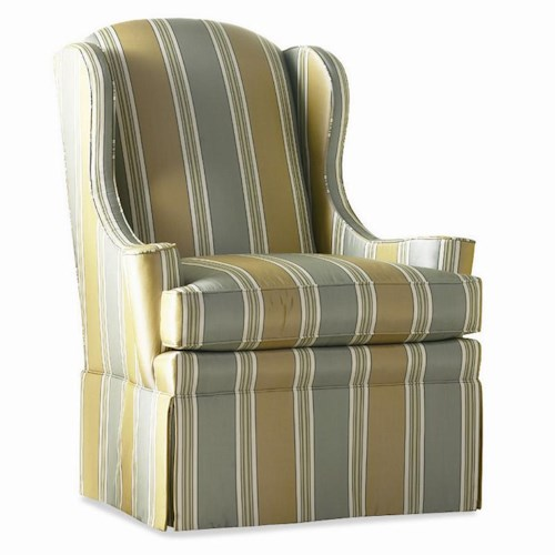 Sherrill Casual Wing Chair with Skirt