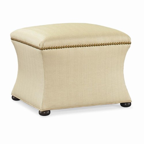 Sherrill Dan Carithers Convex Bench / Ottoman with Nailhead Trim and Bun Feet