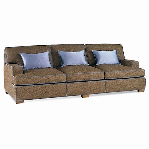Sherrill Dan Carithers Track Arm Sofa with Wood Block Feet