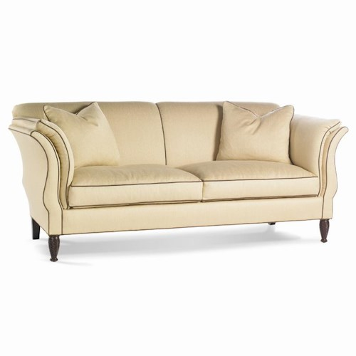 Sherrill Dan Carithers Flared Arm Sofa with Spiral Legs