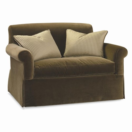 Sherrill Dan Carithers Chair And Half with Rolled Arms and Rectangular Accent Pillows