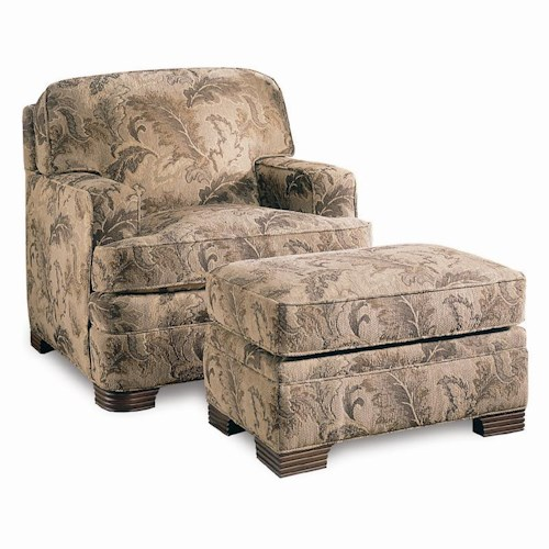 Sherrill Design Your Own Upholstered Chair with Track Arms & Ottoman