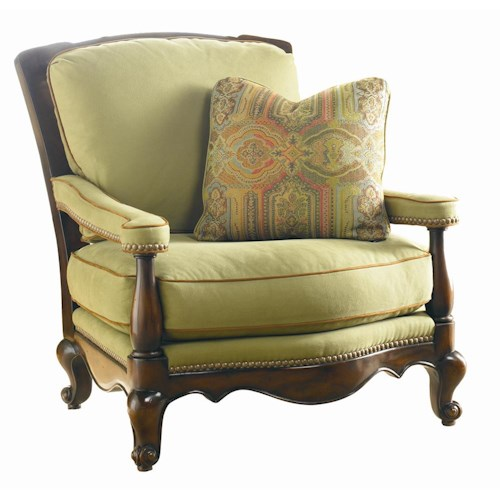 Sherrill Masterpiece Flowing Carved Lounge Chair