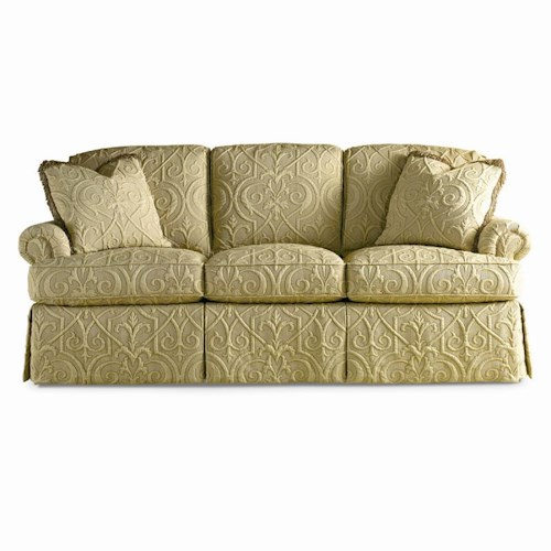 Sherrill Traditional Sofa with Loose Back Cushions and Rolled Arms