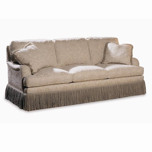 Sherrill Traditional English Arm Sofa with Semi-Attached Back