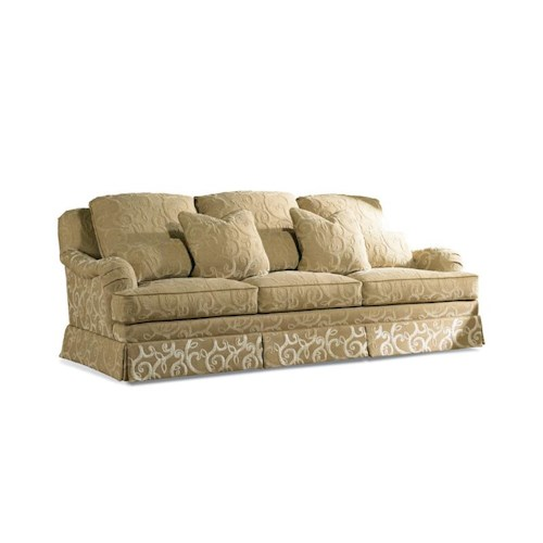 Sherrill Traditional Sofa with Knife Edge Loose Pillow Back and English Arms