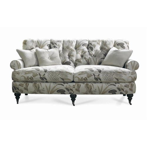 Sherrill Traditional Upholstered Sofa with Diamond Tufted Back