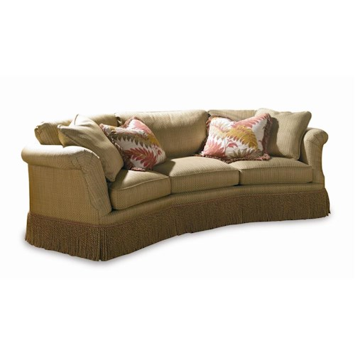 Sherrill Traditional Conversation Sofa with Loose Cushion Back