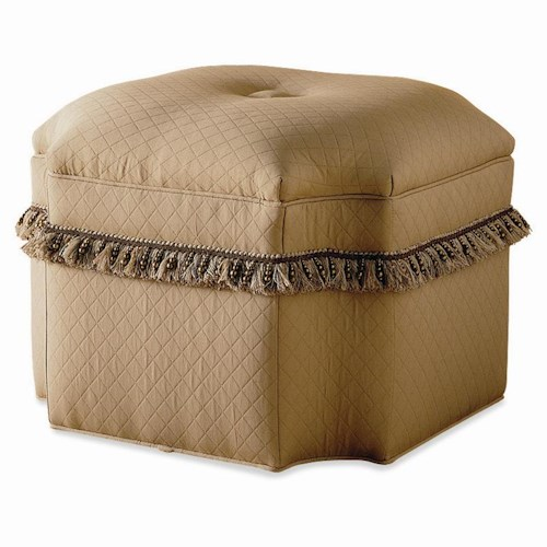 Sherrill Traditional Shaped Bench / Ottoman with Tufted Button Seat
