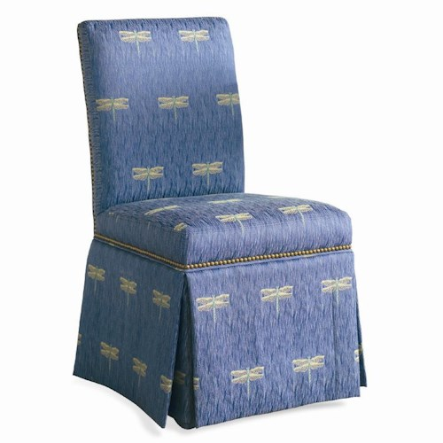 Sherrill Traditional Dining Chair with High Skirt and Nailhead Trim