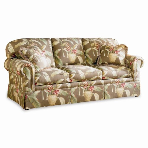 Sherrill Traditional Sleep Sofa with Rounded Loose Back Cushions and Rolled Arms