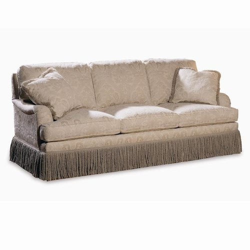 Sherrill Traditional Traditional Sleep Sofa with English Arms and Semi-Attached Back
