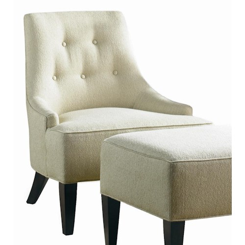 Sherrill Transitional Retro Low Track Armed Lounge Chair