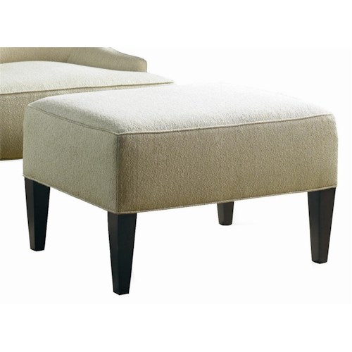 Sherrill Transitional Lounge Ottoman with Tapered Wood Legs