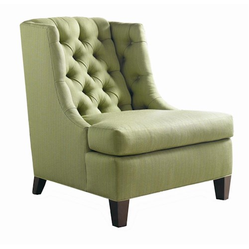 Sherrill Transitional Loose T-Cushioned Lounge Chair with Hand Tufted Back