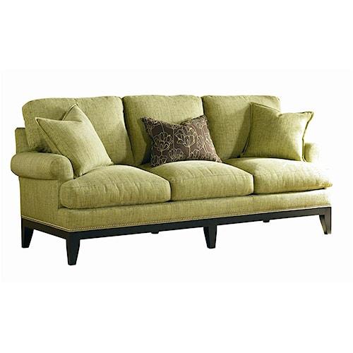 Sherrill Transitional Lawson Style Sofa with Nailhead Trim
