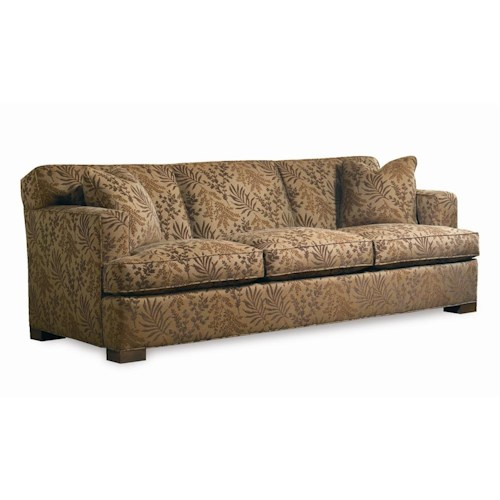 Sherrill Transitional Sofa with Track Arms and Tight Back