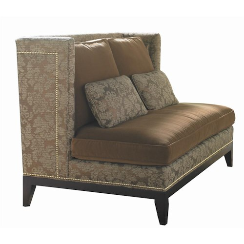 Sherrill Transitional Settee with Nail Head Trim
