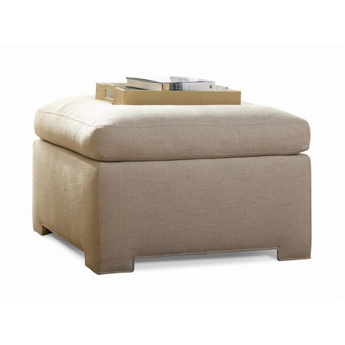 Sherrill Transitional Casual Bench / Ottoman with Upholstered Base