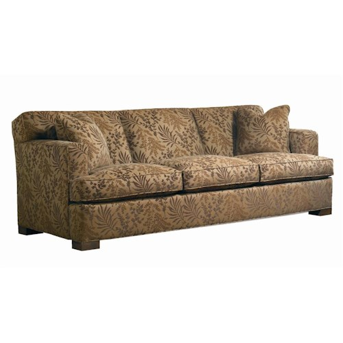 Sherrill Transitional Sleep Sofa with Wooden Block Legs