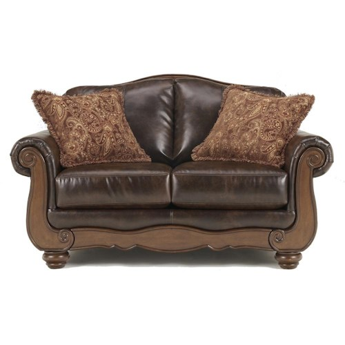 Signature Design by Ashley Barcelona - Antique Traditional Loveseat