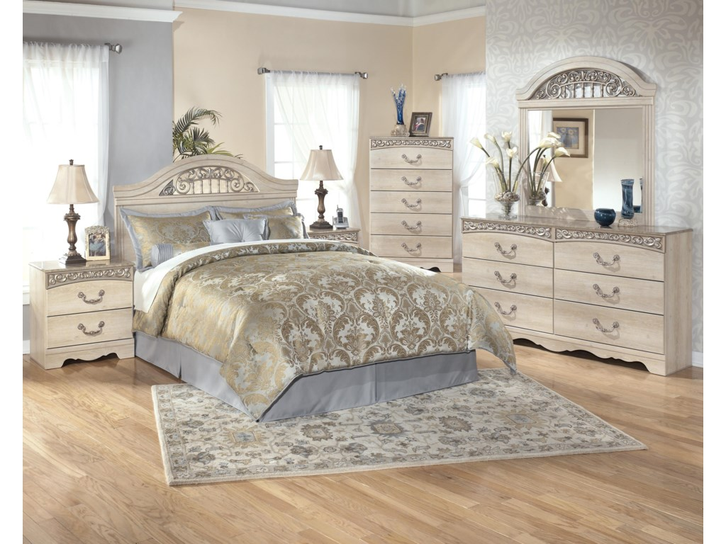 Shown with Nightstand, Panel Bed, Chest, and Mirror