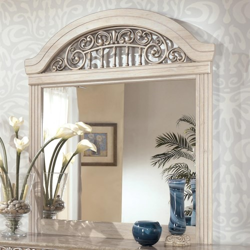 Signature Design by Ashley Catalina Dresser Mirror with Ornate Crown