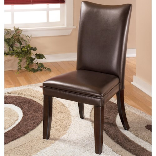 Signature Design by Ashley Charrell Brown Upholstered Dining Side Chair