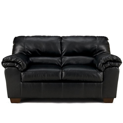 Signature Design by Ashley Commando - Black Upholstered Loveseat