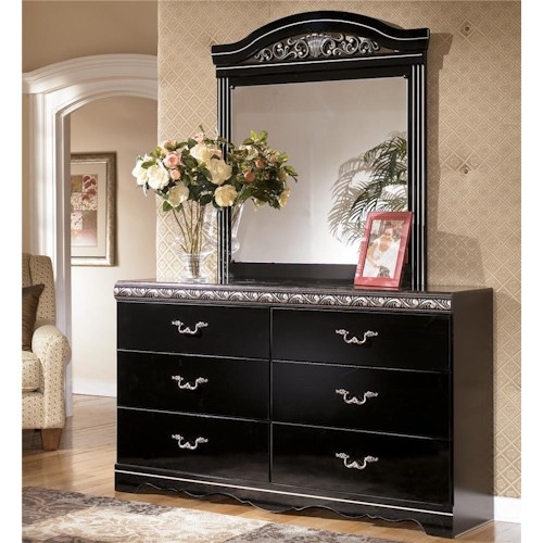 Signature Design by Ashley Constellations 6 Drawer Dresser & Mirror