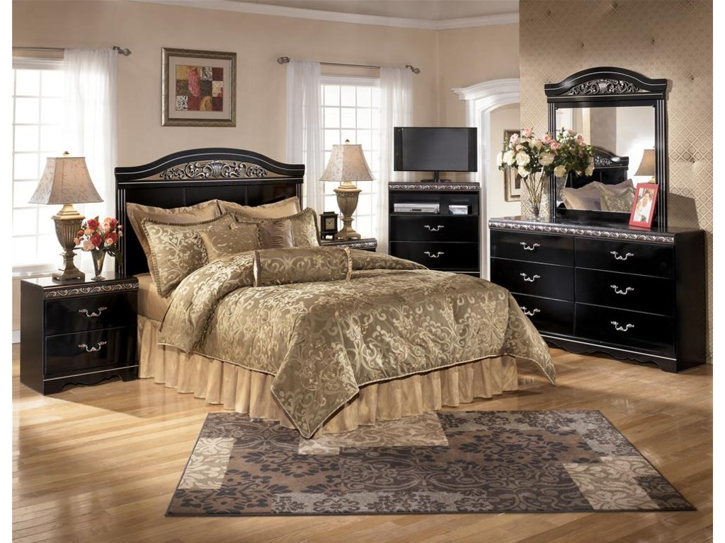 Shown with TV Chest, Headboard Bed, Mirror & Nightstand