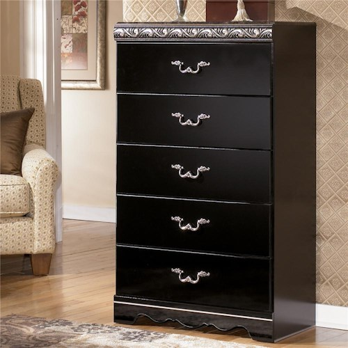 Signature Design by Ashley Constellations 5 Drawer Vertical Chest