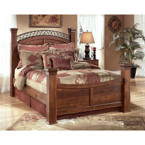 Signature Design by Ashley Pine Ridge King Poster Bed