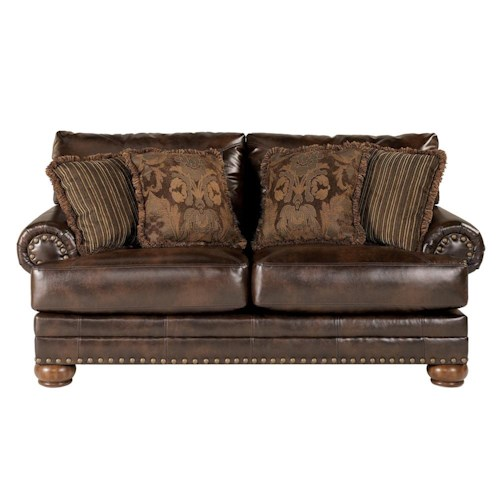 Signature Design by Ashley Chaling DuraBlend® - Antique Loveseat with Nailhead Trim