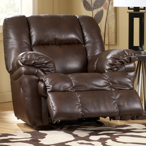 Signature Design by Ashley Walsenburg DuraBlend® Brindle Rocker Recliner