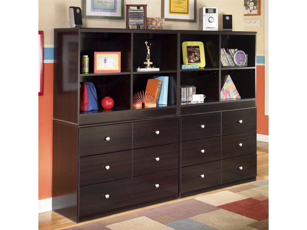 Shown with Loft Open Bookcases