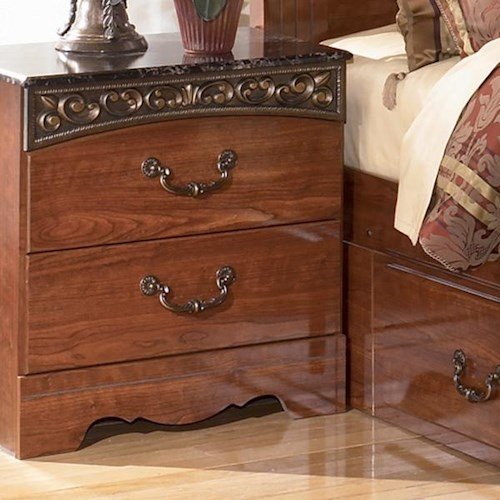 Signature Design by Ashley Fairbrooks Estate Night Stand with 2 Drawers