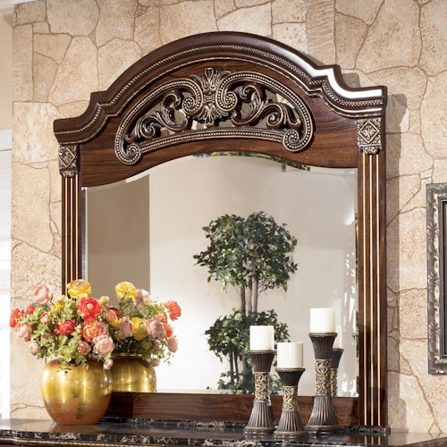 Signature Design by Ashley Gabriela Dresser Mirror with Carved Detail