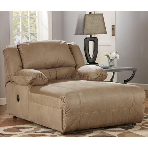 Signature Design by Ashley Hogan - Mocha 2 Arm Pressback Chaise