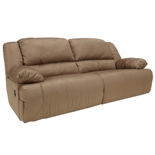Signature Design by Ashley Furniture Hogan - Mocha 2 Seat Reclining Sofa