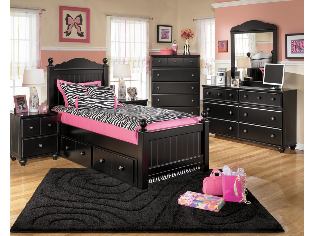 Shown with Night Stand, Chest, Dresser, and Mirror.