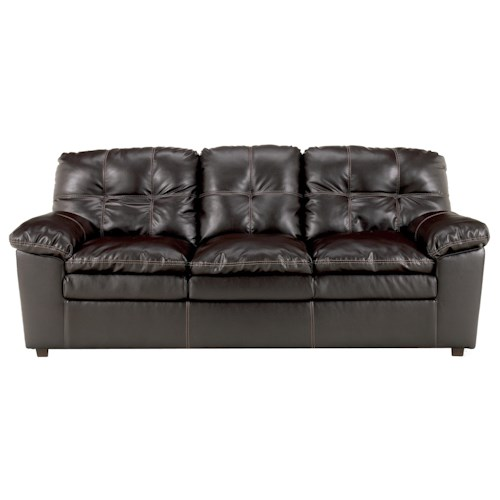 Signature Design by Ashley Jordon DuraBlend - Java Three-Person Stationary Sofa