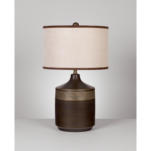 Signature Design by Ashley Lamps - Contemporary Set of 2 Karissa Table Lamps